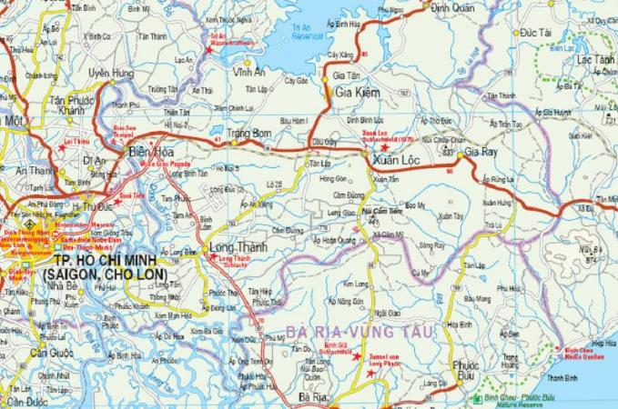 Maps - Road maps, atlases - South Vietnam