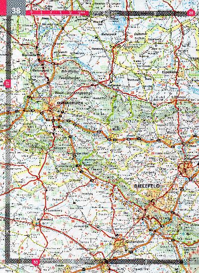 Road Map Of Germany And Austria.Maps Road Maps Atlases Germany Benelux Austria Switzerland